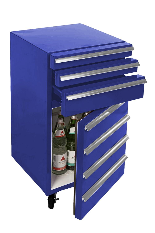 Mini-Kühlschrank für Getränke im retro Werkstattwagen-Look | schwarz ...