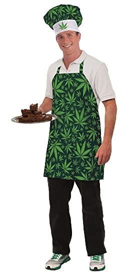 Marijuana Hat And Apron Set Pot Costume