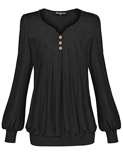 Miagooo Ladies Tops Womens Formal Blouses Plus Size Blouses Tops