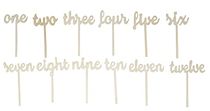 Amazoncom Wooden Table Numbers Pack Number Wood Sticks Table - Table one catering