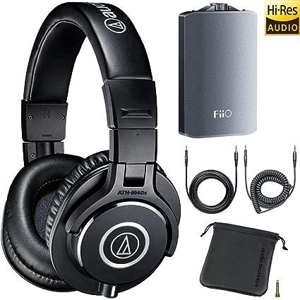 f4cac664a94 Audio-Technica ATH-M40x Professional Studio Monitor Headphones + FiiO A3  Headphone Amplifier
