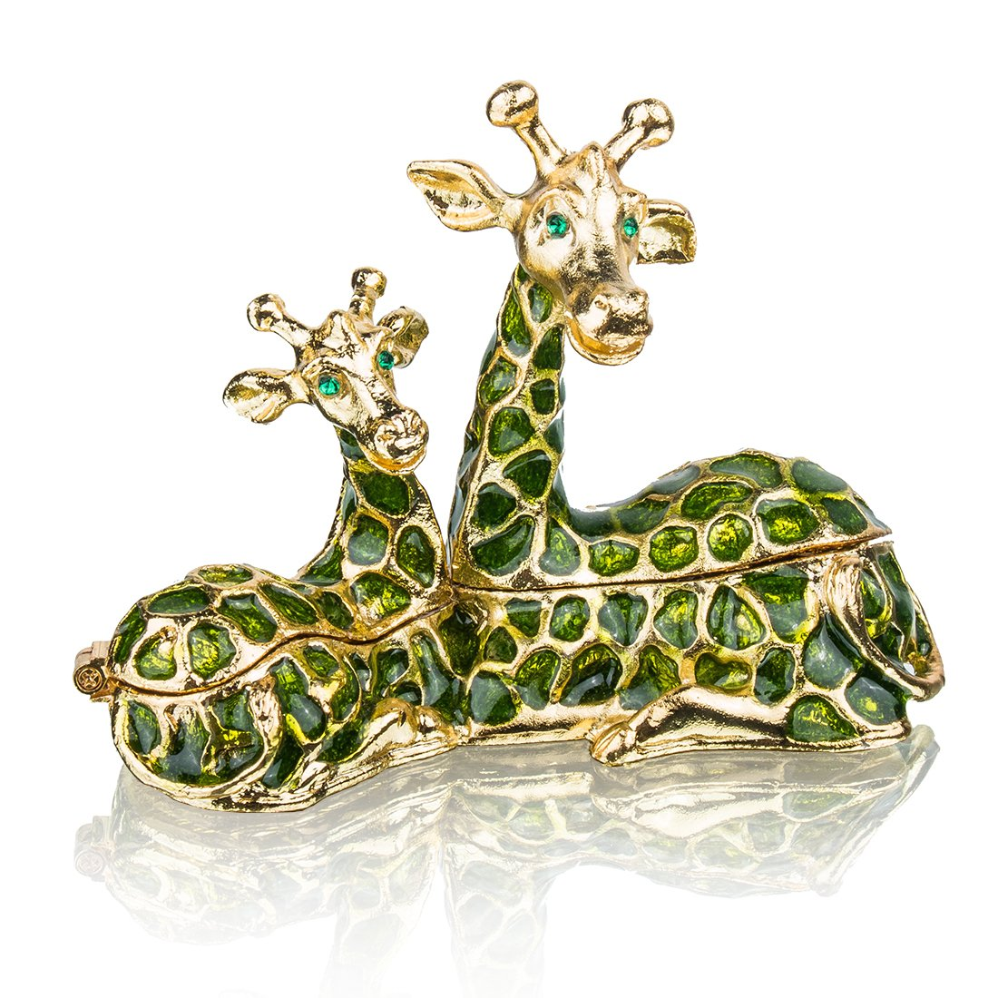 Sitting Mum and Baby Giraffe Ring Holder Hinged Trinket Boxes for Gifts, Jewelry Boxes Organizer Holder YUFENG CRAFTS MANUFACTURE CO. LTD