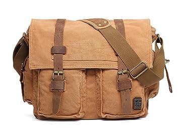 66dd58aefd Sulandy@ Grand sac à bandoulière finition besace en cuir  d'é