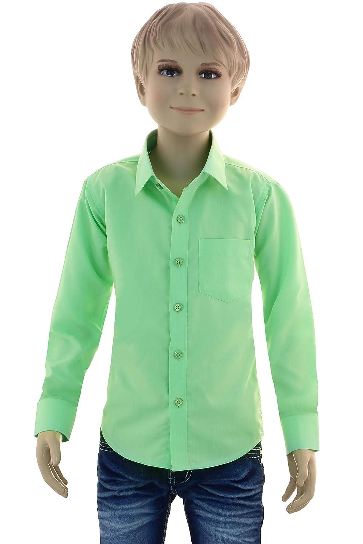 f39990375edddc GILLSONZ GA1 vDa Kinder Party Hemd Freizeit Hemd bügelleicht Lange Arm mit 11  Farben Gr. größeres Bild