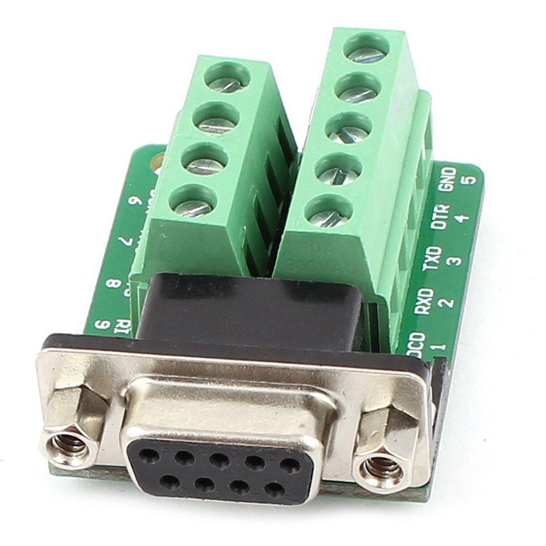 Anschlussplatine - SODIAL(R) RS232 D-SUB DB9 Buchse Adapter zum Terminal-Anschluss Signal-Modul 065587