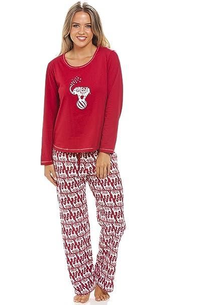 Camille - Conjunto de pijama largo para mujer - Estampado de elefantes 42/44