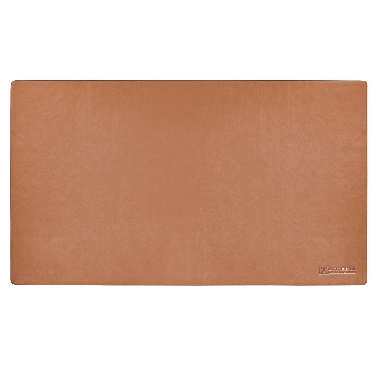 TOP RATED - Modeska 24''x14'' Leather Desk Pad - Executive Blotter and Protective Mat - Mouse Pad - Brown