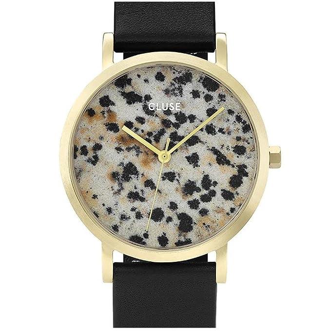 ... Petite Gold Dalmatian Black CL40105 Womens Watch 33mm Leather Strap Minimalistic Design Casual Dress Japanese Quartz Elegant Timepiece: Cluse: Watches