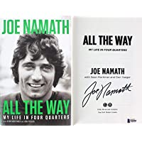 Jets Joe Namath Signed All The Way First Edition Hard Cover Book BAS - Beckett Authentication - NFL Autographed Miscellaneous Items photo