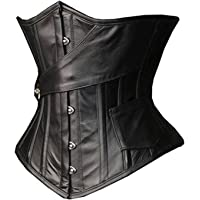 Camellias Womens Steampunk Gothic Steel Boned Underbust Waist Training Corset