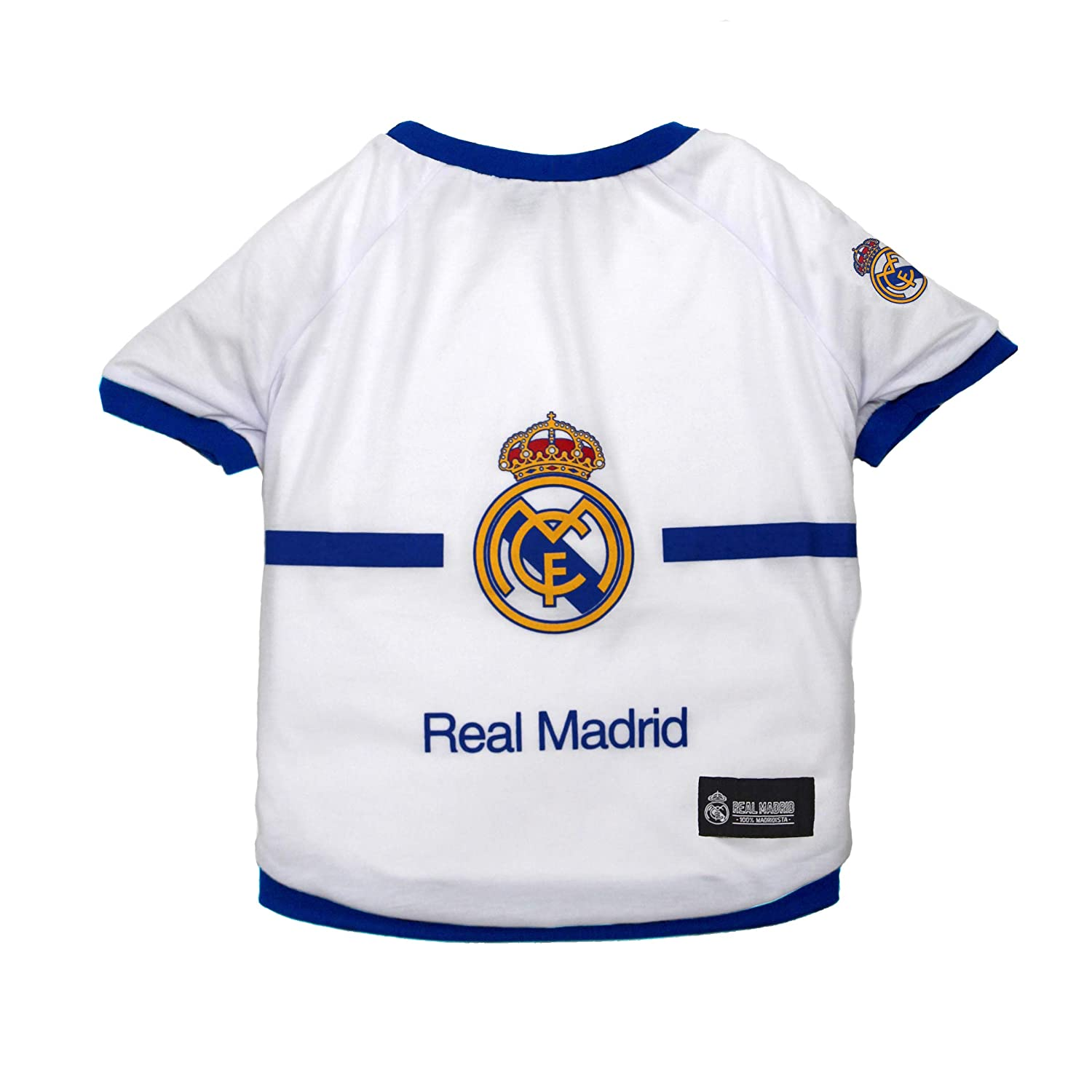 MLS Sports Licensed Dog Apparels Cute Pet Accessories /& Fun Toys Real Madrid Soccer Pet Jerseys Shirts Collars Bandanas /& Football Toys for Dogs /& Cats