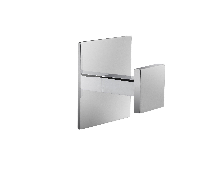 W-Luxury Wall Towel Robe Hook Hanger for Bath/Kitchen Towel Holder, Brass (Polished Chrome)