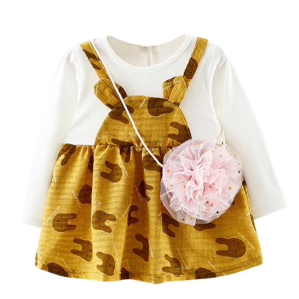 Tpulling Filles Lapin Party Robes Princesse [ Filles Robes Manches Longues ] Occasion: occasionnel quotidien
