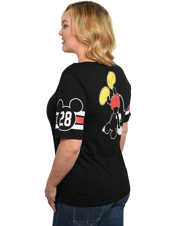 450589d2f1 Amazon.com: Disney Women's T-Shirt Junior Plus Size Mickey Minnie Mouse  Front Back Print: Clothing