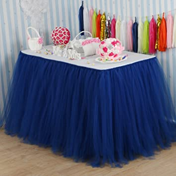 Amazon vlovelife 100cm navy blue tulle tutu table skirt vlovelife 100cm navy blue tulle tutu table skirt tableware tablecloth party baby shower birthday wedding decorations junglespirit Gallery