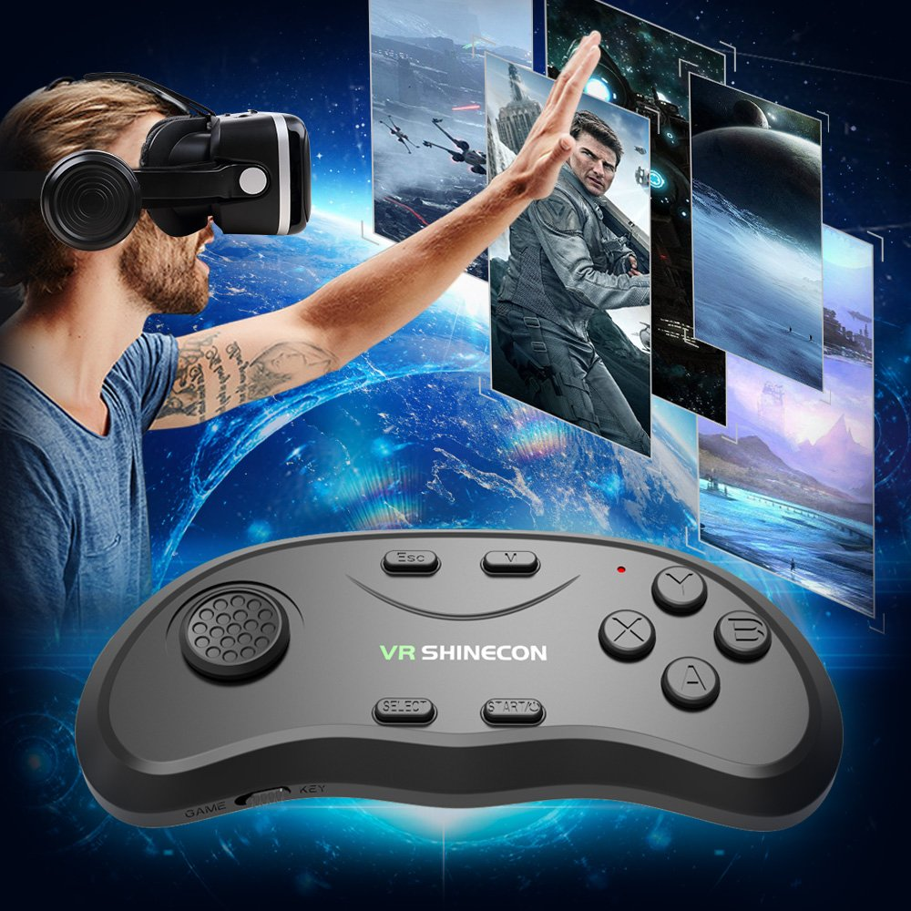Pansonite Vr Headset with Remote Controller, 3d Glasses Virtual Reality Headset for VR Games & 3D Movies, Eye Care System for iPhone and Android Smartphones (Sb-black) by Pansonite (Image #9)