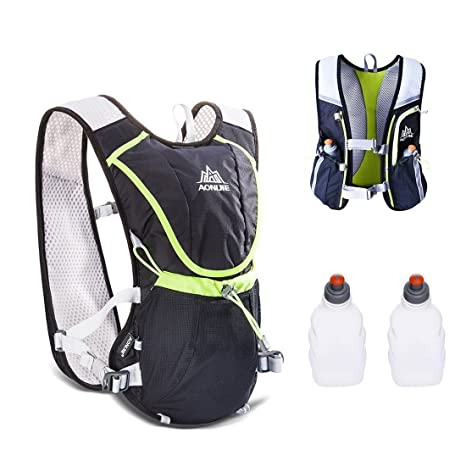AONIJIE 8L Hydration Vest Pack Backpack Lightweight for Hiking Marathon Cycling Running Race (Black with