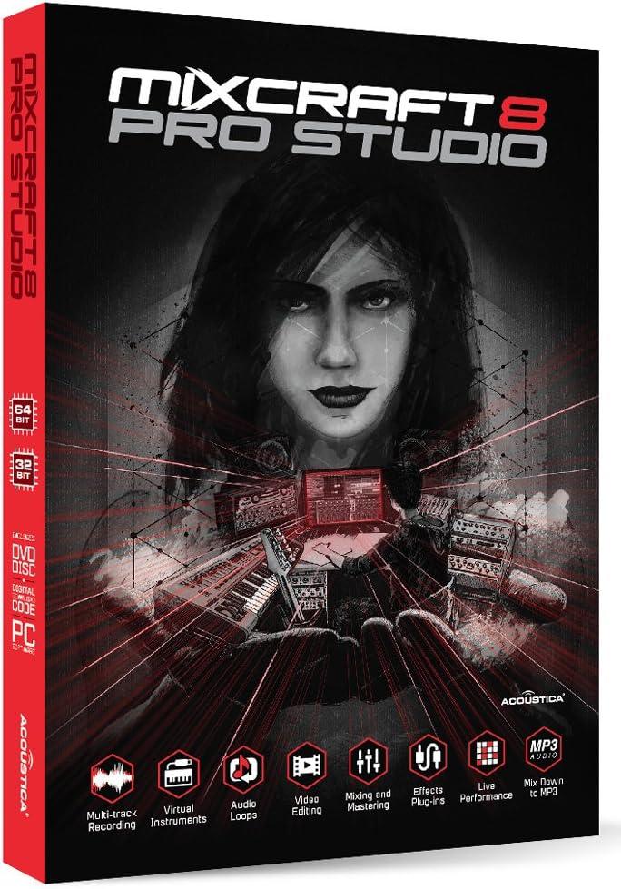 front facing Mixcraft 8 Pro Studio