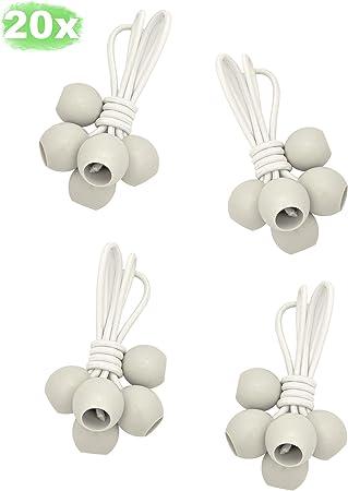 LUCIAMO ® Tensores - la alternativa inteligente a las ataduras de cables - 20 piezas 100mm, blanco - con