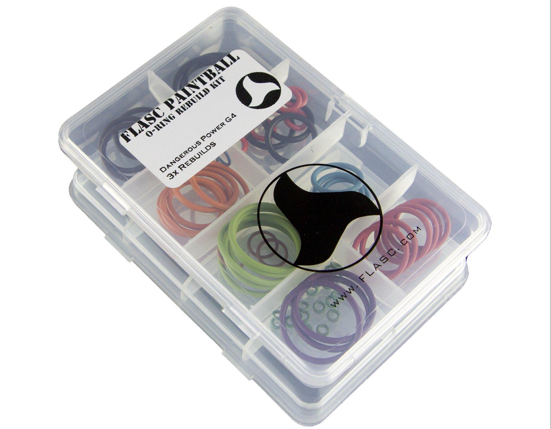 Flasc Paintball Dangerous Power G4 3X Color Coded Paintball o-Ring Rebuild kit by Flasc Paintball