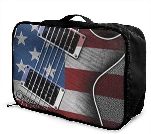 Travel Luggage Duffle Bag Lightweight Portable Handbag Music Guitar Large Capacity Waterproof Foldable Storage Tote