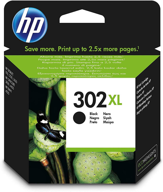 HP F6U68AE 302XL Cartucho de Tinta Original de alto rendimiento, 1 ...