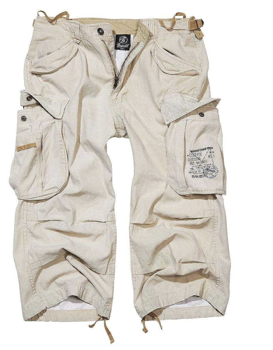 TALLA XL. Brandit Industry Vintage 3/4 Pantalones cortos Vintage Antracita