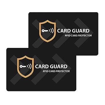 Einfachste Schutzl/ösung f/ür Gesamten Portemonnaie AKTUALISIERTE RFID Blocker Karte NFC Schutzkarte St/örsender kontaktloser Kartenschutz EC-Karte Kreditkarte Bankkarte