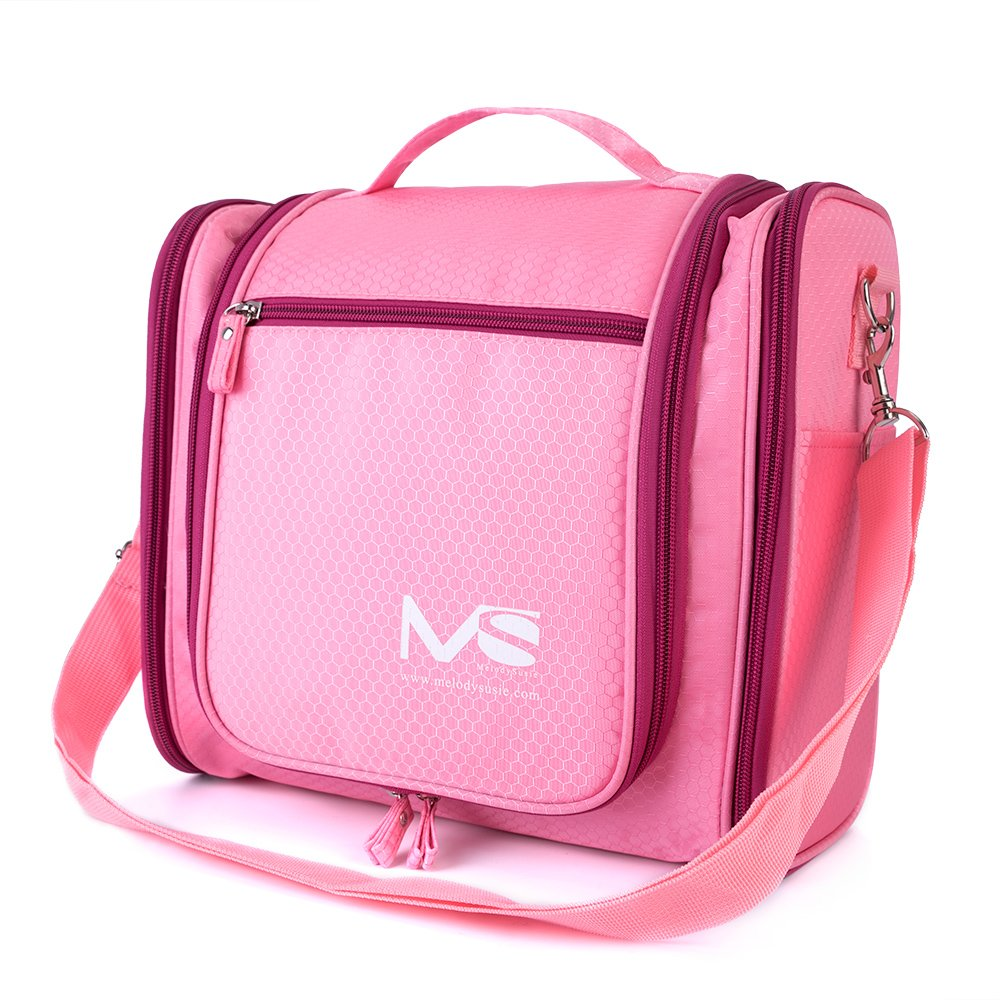 Large Hanging Travel Toiletry Bag - MelodySusie Heavy Duty Waterproof Makeup Organizer Bag Shaving Kit Toiletry Bag for Travel Accessories, Shampoo, Cosmetic, Personal Items 76-2016-007