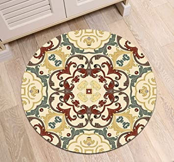 Amazon Com Lb Vintage Design Round Area Rug Mat Retro Theme