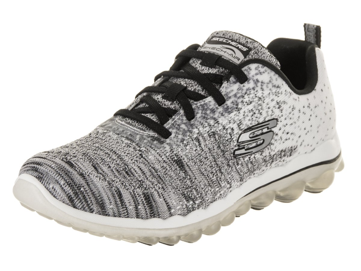 Skechers Womens Skech-Air 2.0 - Discoveries Sneaker B07D3DBBSB 10 B(M) US|White/Black