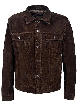 Classyak Mens Fashion Suede Leather Stylish Jacket