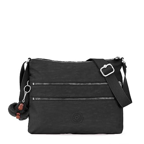 Kipling Alvar Black Tonal Crossbody Bag, Black t