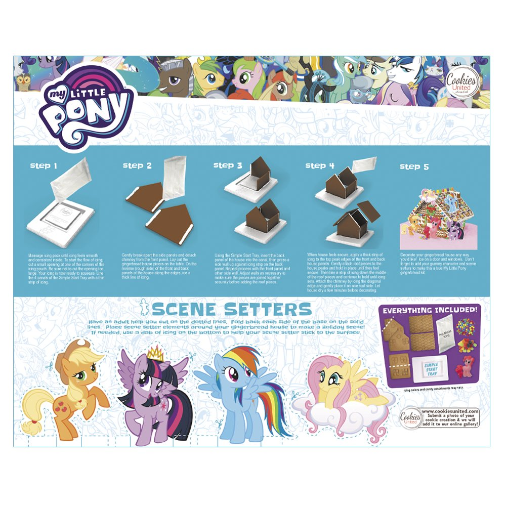 Amazon My Little Pony Gingerbread House Kit Grocery Gourmet Food