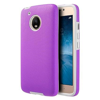 Amazon.com: Motorola Moto G5 Plus ezpress carcasa híbrida ...