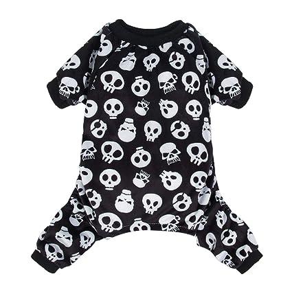 28fedf73d5 CuteBone Dog Pajamas Skeleton Dog Apparel Dog Jumpsuit Pet Clothes Pajamas  P11S