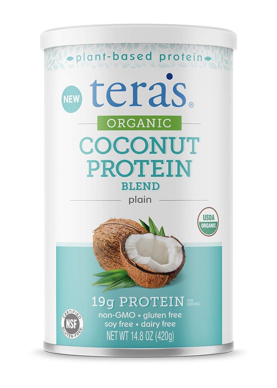 teraswhey Organic Coconut Protein Blend, Plain, 14.8 oz