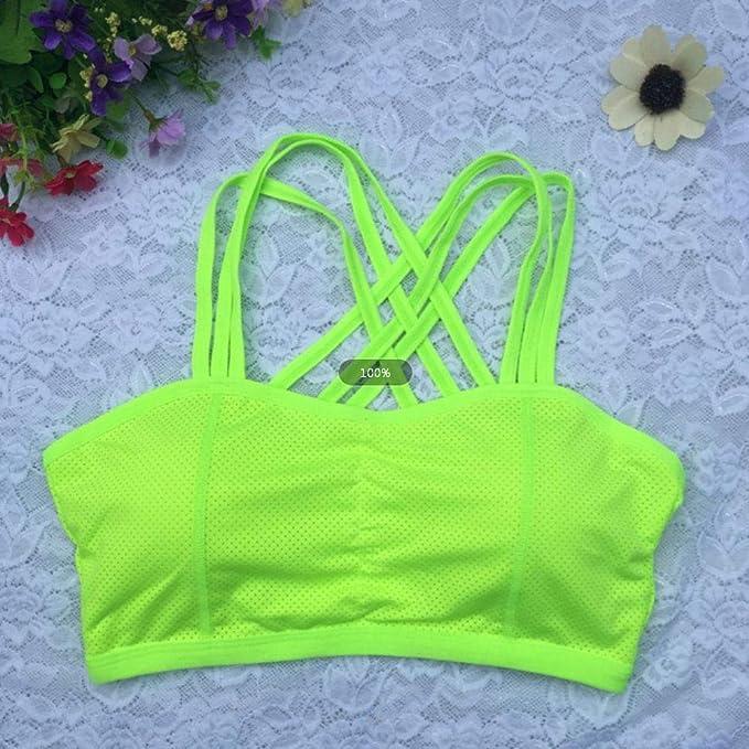 Amazon.com: Funnmart Woman Sports Bra Push Up Yoga Bra Active Wear Tops for Women Gym Brassiere Sport Bra Cross Crop Top Sujetador Deportivo: Kitchen & ...