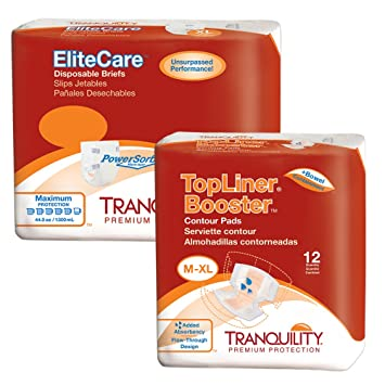 Tranquility EliteCare Max Absorbency Incontinence Bundle (XL - 48 count)