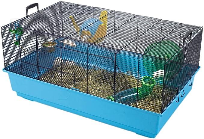 Savic Mickey 2 x l Azul Marino Azul Ratón y Enano hámster Jaula 80 x 50 x 38 cm