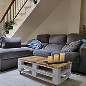 Dydaya Conjunto Muebles Exterion Sofa Palets Chillout Color Blanco Envejecido & Vintage Nordico