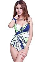 Colorfulworldstore Sexy einteiliger Badeanzug-Gestreift-Konservativer Badeanzug mit Bügeln-Sexy Bikini
