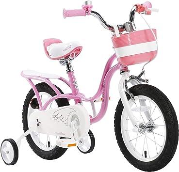 Bicicleta rosa Royal baby «Little Swan» para niñas, con rueditas ...