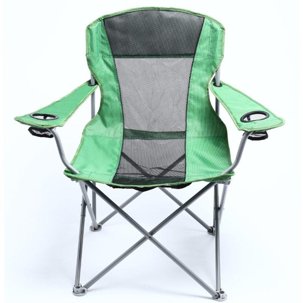 HMWPB Portable Klappstuhl Außen,Oxford Heavy-duty Campingstuhl Mit Zwei Becherhalter Schlägertasche Angeln Stuhl Für Strand Wandern Wandern