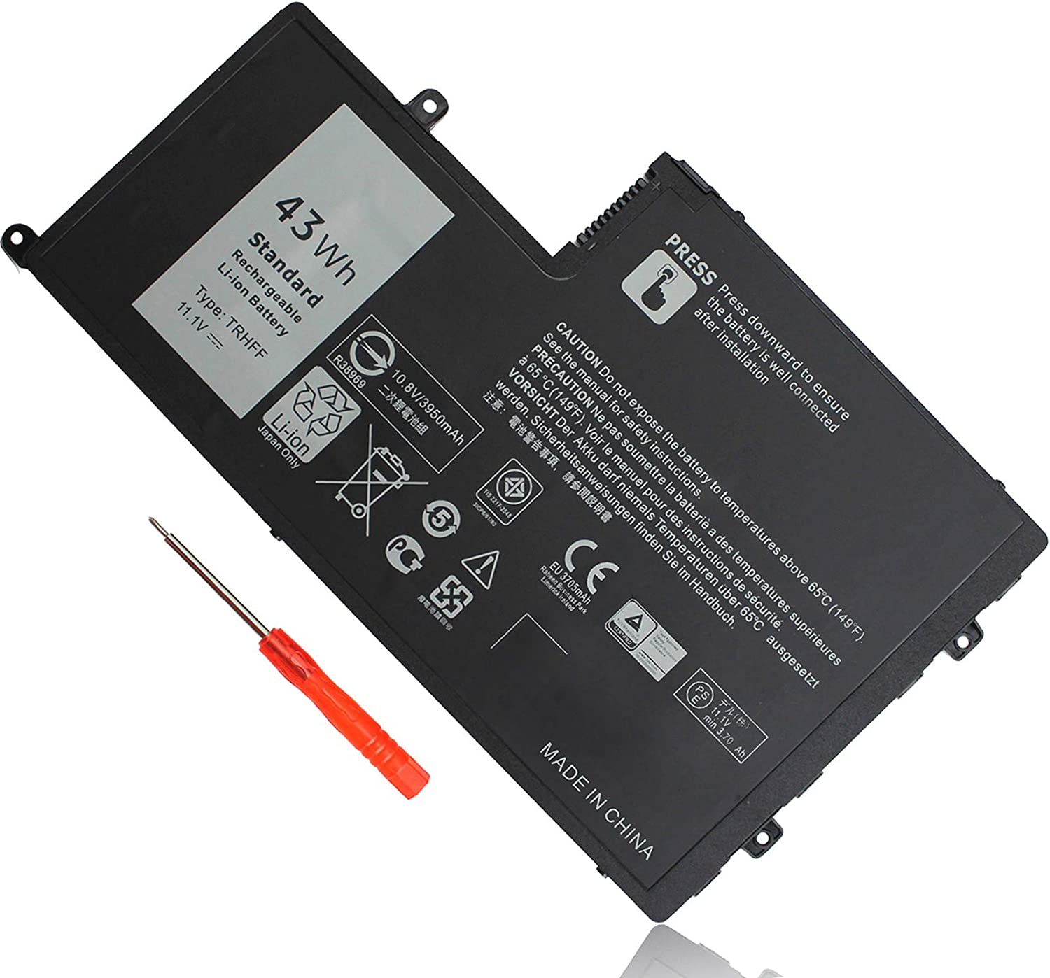 43WH Type TRHFF Battery Replacement for Dell Inspiron 14 5447 5448 15 5542 5547 N5447 N5547 Latitude 14 3450 15 3550 E3450 E3550 DL011307-PRR13G01 1V2F6 P39F