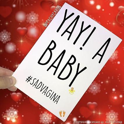 Tarjeta de felicitación para bebé con texto en inglés