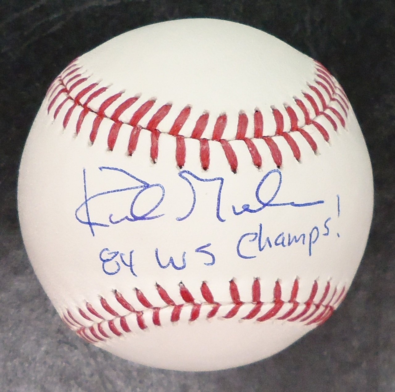 KIRK GIBSON AUTOGRAPHED BASEBALL - OFFICIAL MAJOR LEAGUE BALL W/ '84 WS CHAMPS' Detroit City Sports