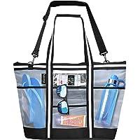 Vulken 42L Extra Large Mesh Beach Bag. Multipurpose Tote Bag Shoulder Bag for Picnic, Travel, Shopping and Gym. 9…