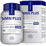 Maximum Strength NMN Capsules, 300mg Per Capsule, Stabilized Form, Naturally Boost NAD+ Levels for Mental Performance…
