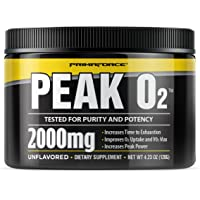 PrimaForce Peak O2 Workout Supplement, 120 grams - Proprietary Blend Improves Oxygen Uptake to Increase Power and Boost…